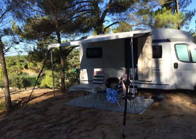 Camping in Moustier